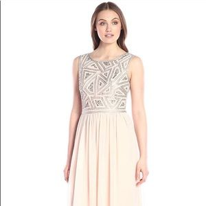Dresses & Skirts - Adrianna Papell Sleeveless Beaded Bodice Gown